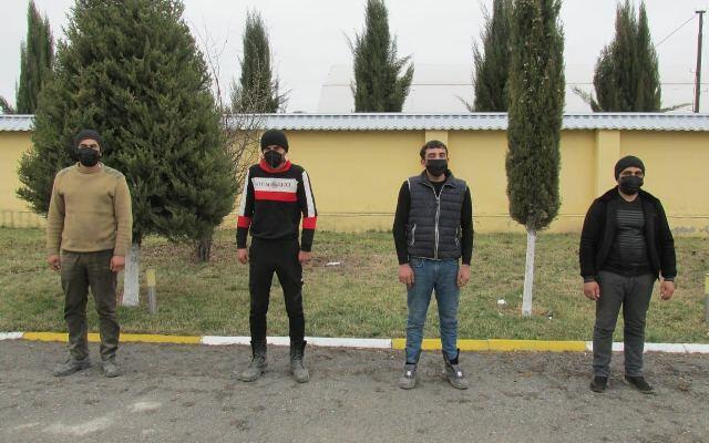 Füzuliyə qanunsuz keçmək istəyənlər saxlanıldı - Foto
