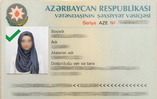 Pasportlarda hicablı şəkilə icazə verilə bilər