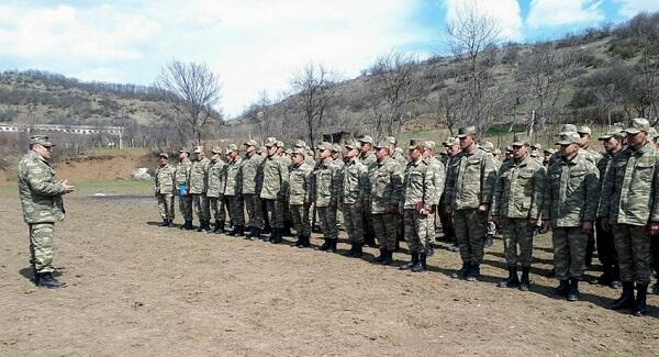 Meeting with servicemen in the liberated areas -
