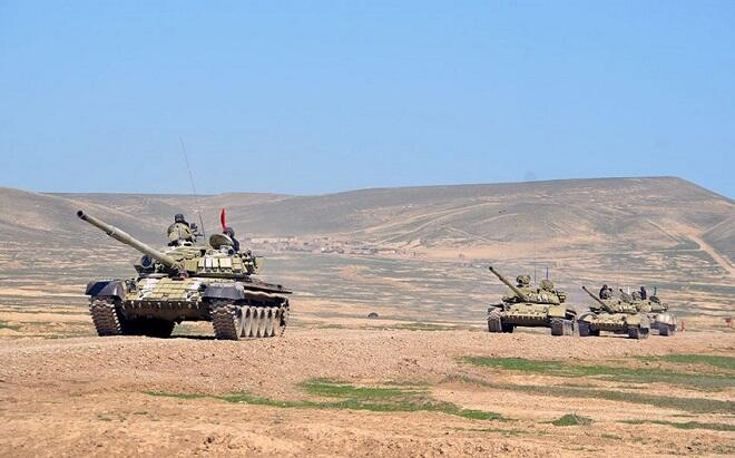The tank units conduct combat training sessions -