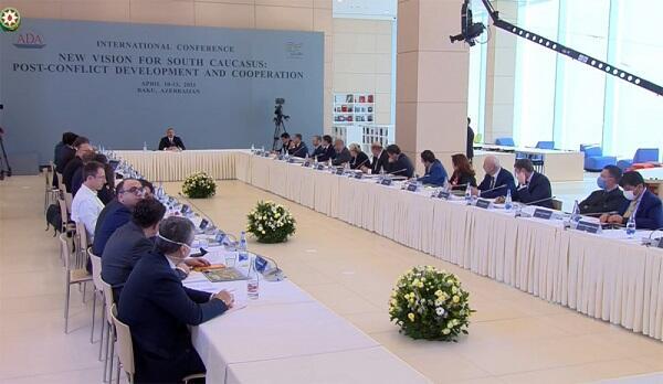 İlham Əliyev ADA-da keçirilən konfransda çıxış etdi - Video