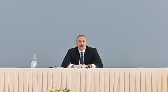 The US publication wrote about Aliyev's speech