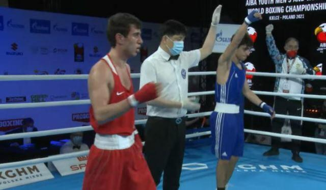 Our boxer defeated his Armenian opponent