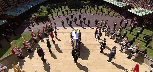 A farewell ceremony with Prince Philip -