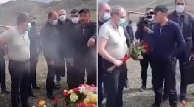 Nikola şok: məzara gül qoymasına icazə verilmədi - Video