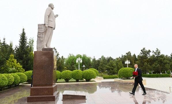 Prezident Hacıqabulda açılışlar etdi