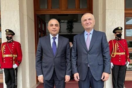 Azay Quliyev Albaniya prezidenti ilə görüşdü