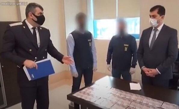 Korona xəstələrindən rüşvət alanların saxlanma - Videosu