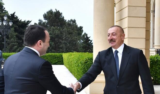 İlham Əliyev Gürcüstan baş nazirini qəbul etdi