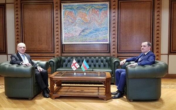 Azerbaijani FM meets his Georgian counterpart