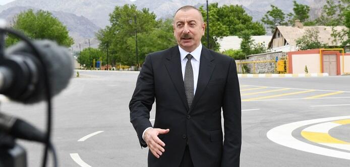 Ilham Aliyev was interviewed by Azerbaijan Television -