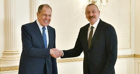 İlham Əliyev Lavrovla görüşdü - Foto