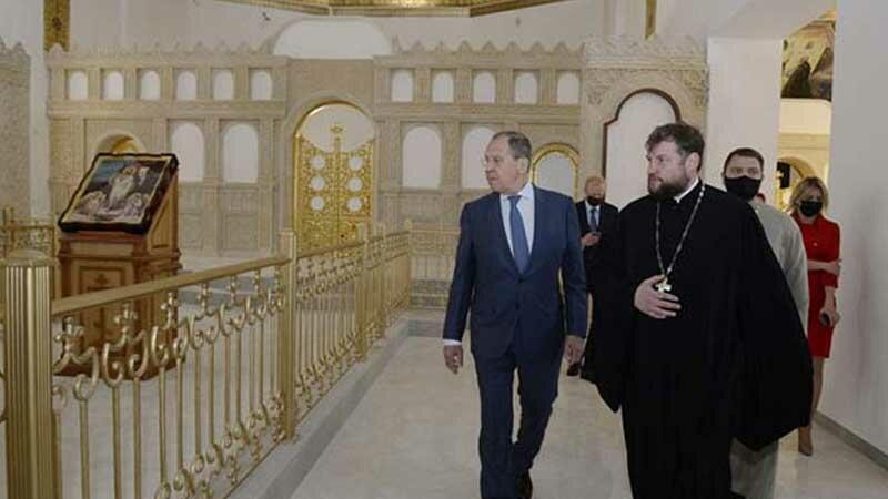 Lavrov visited the Church of St. Mary -
