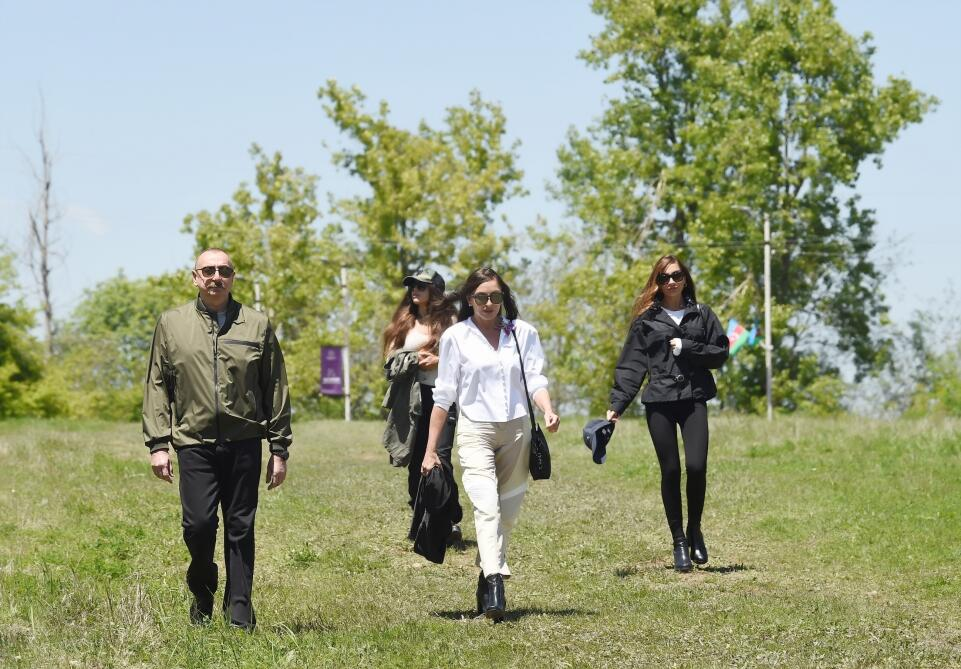 Ilham Aliyev is in the palace of Khan's daughter Natavan