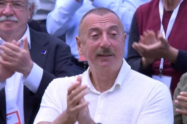 Ilham Aliyev got touched to the speech of the national leader -