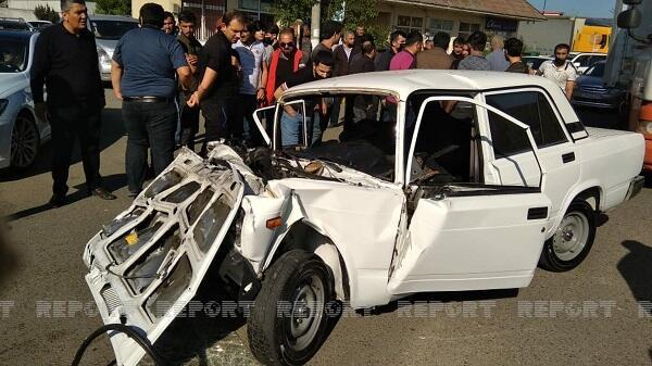 Цепная авария в Лянкяране: 6 раненых