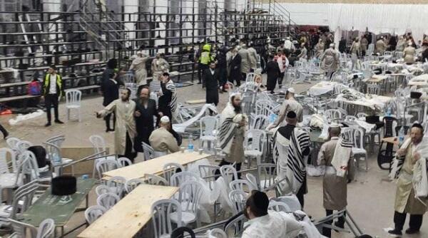 İsraildə sinaqoqun tribunası çökdü: 219 yaralı, 2 ölü - Video