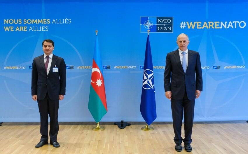 Hikmet Hajiyev at NATO Headquarters: Met with Geoana