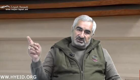 Erməni komandirdən şok: 17 yük maşını mina basdırdıq - Video
