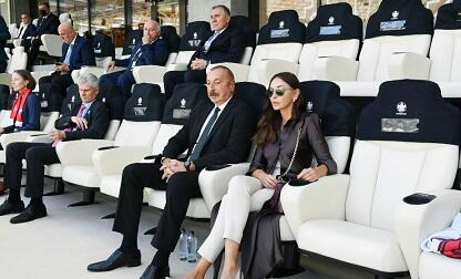 Ilham Aliyev and his wife watched the match at BOS -