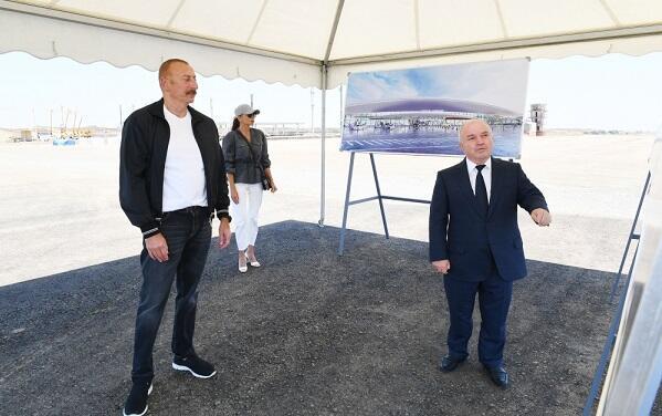 Ilham Aliyev and I Lady are visiting Fuzuli -