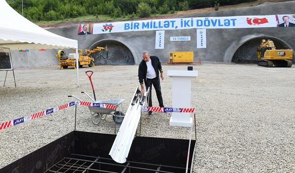 President laid the foundation of a new tunnel in Dashalti
