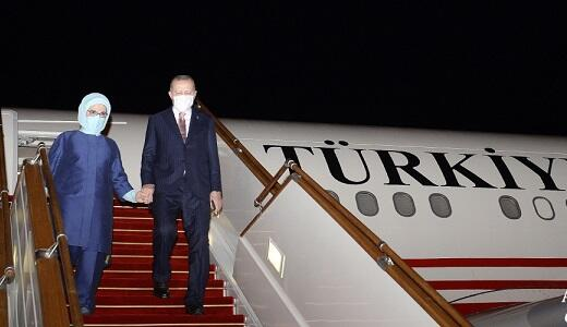 Erdogan has arrived in Azerbaijan