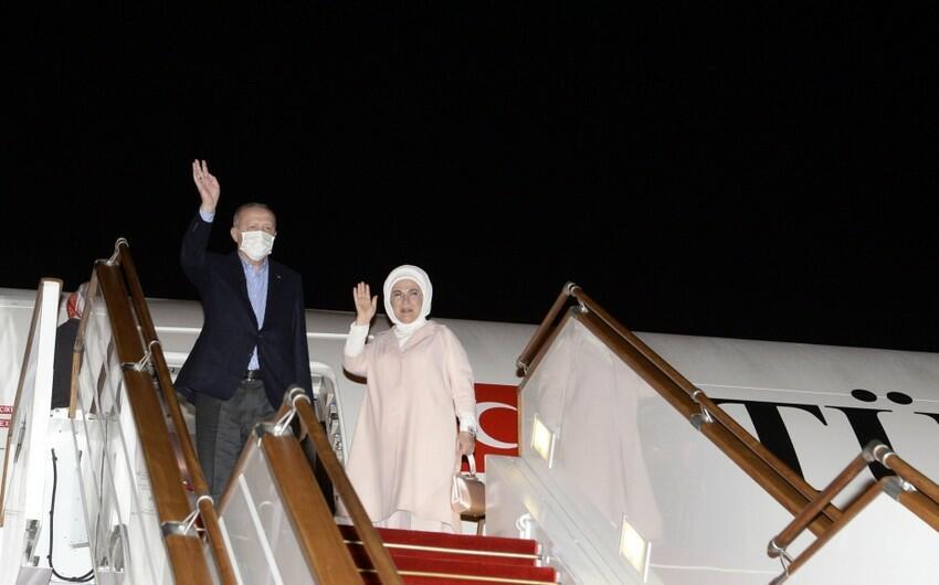 Завершился визит Эрдогана в Баку
