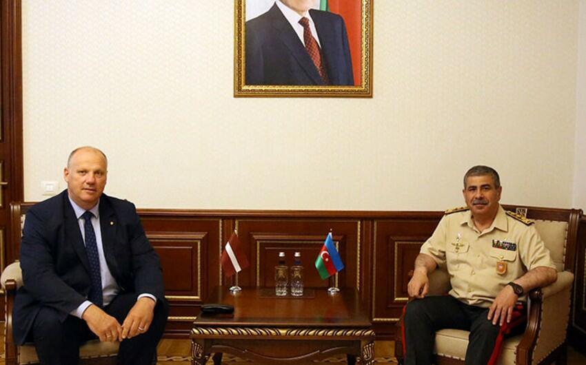 Гасанов встретился с членом делегации Латвии