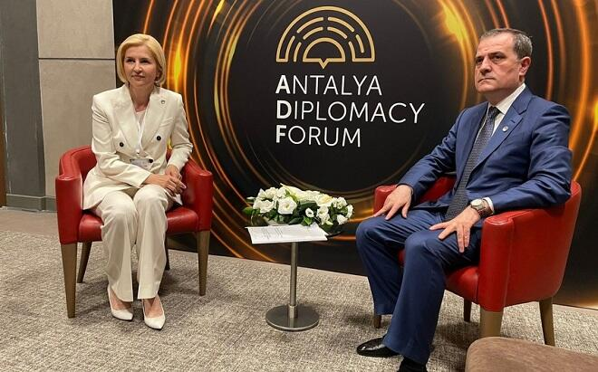Ceyhun Bayramov qaqauzların lideri ilə görüşdü