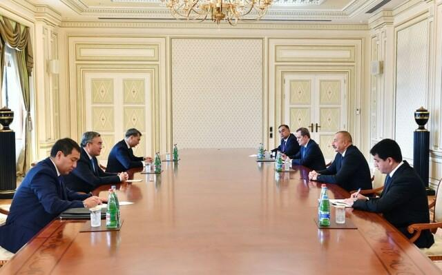 Ильхам Алиев принял Мухтара Тлеуберди