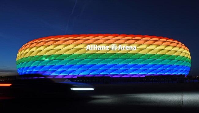 UEFA rejects Munich request for rainbow colours
