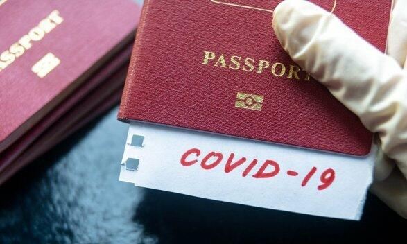 Ailəsi üçün saxta COVİD-19 pasportu alarkən saxlanıldı - Video