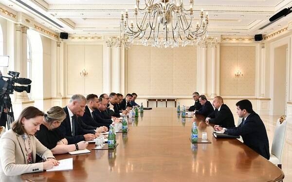 The President received the FMs of the 3 ministers