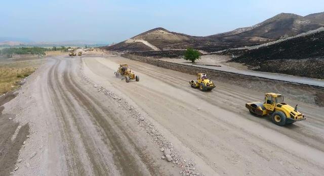 Qubadlı-Laçın yolunun inşası sürətlə davam etdirilir