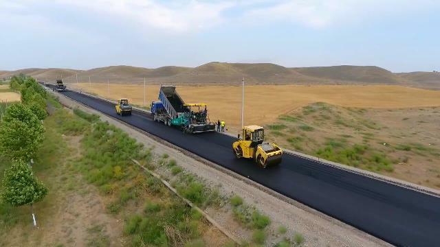 Bakıdan Şuşaya asfalt-beton örtüklü yol...