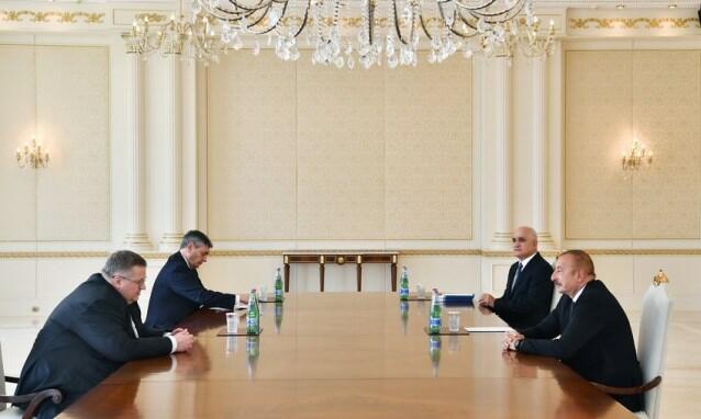 İlham Əliyev Rusiya Baş nazirinin müavinini qəbul etdi