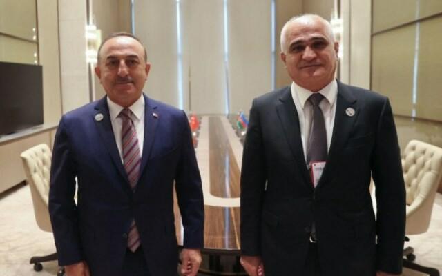 Çavuşoğlu Şahin Mustafayevlə görüşdü