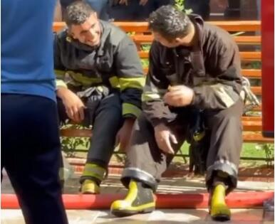 Firefighter heroes: Like a scene from a movie  -