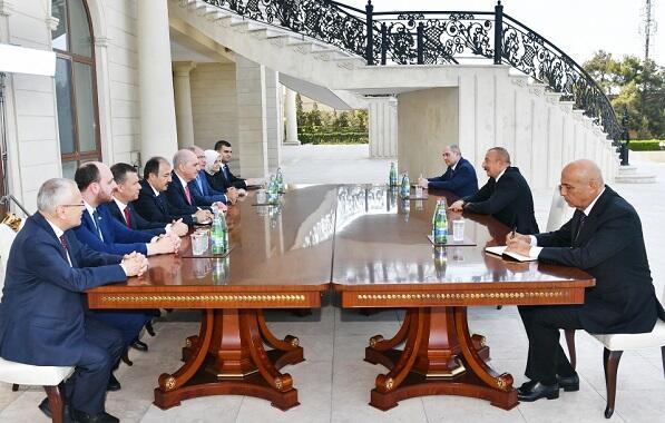 Ilham Aliyev met with Numan Kurtulmush