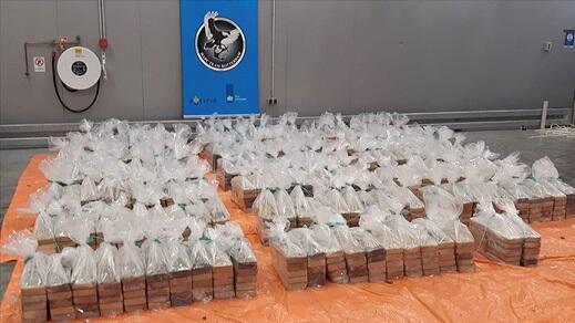 Rotterdam limanında 1 ton 760 kq kokain ələ keçirildi - Foto