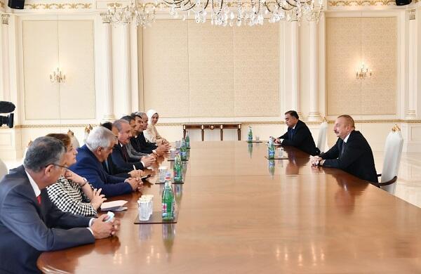 Ilham Aliyev met with Mustafa Shentop