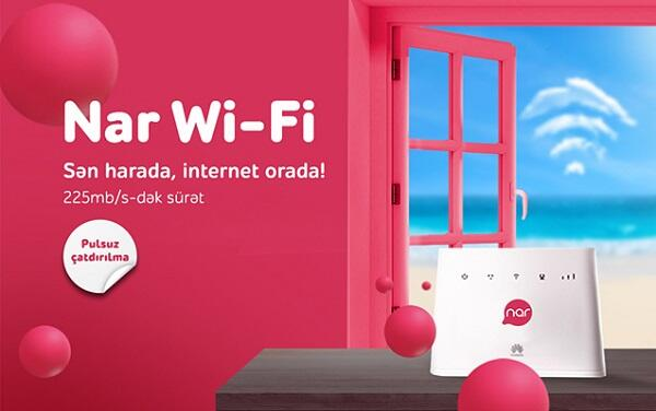 Stay connected anywhere with 'Nar Wi-Fi'