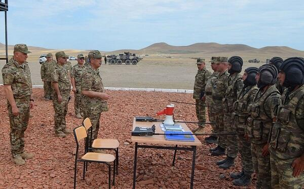 The Minister observed the training of our servicemen