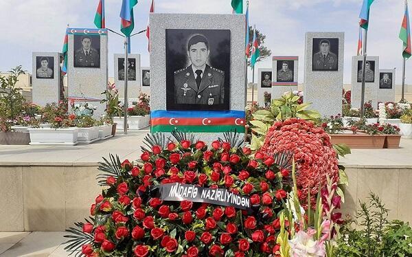 MN-in təşkilatçılığı ilə şəhid zabitin anım günü qeyd edildi