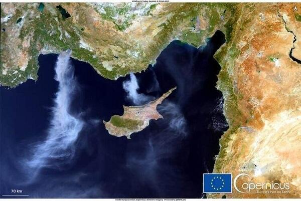 Smoke from Turkey has reached Mediterranean -