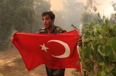 FHN-çilərin bayraq sevgisi Türkiyədə gündəm oldu - Foto