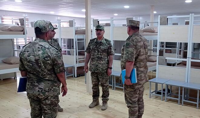 Zakir Hasanov in the new military unit in Karabakh -