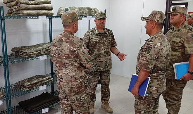 The general checked the level of combat readiness -
