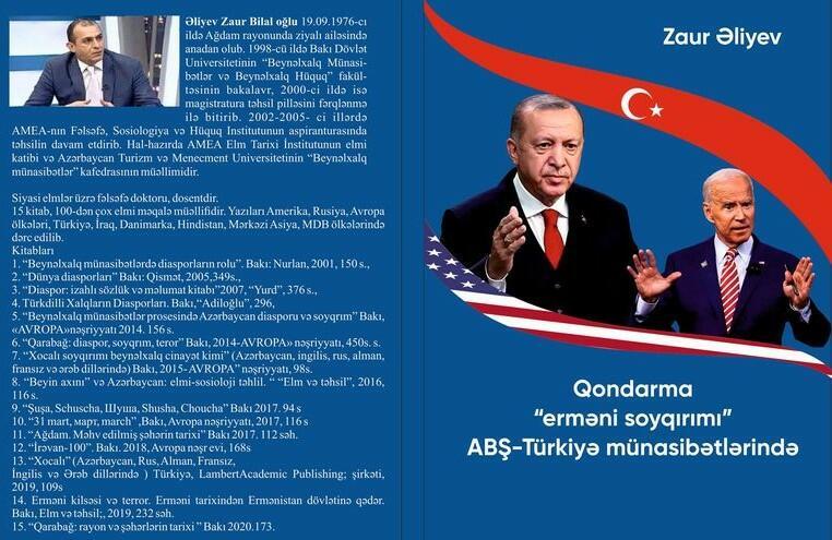 Zaur Əliyevin yeni kitabı: Uydurma soyqırım ifşa edilir